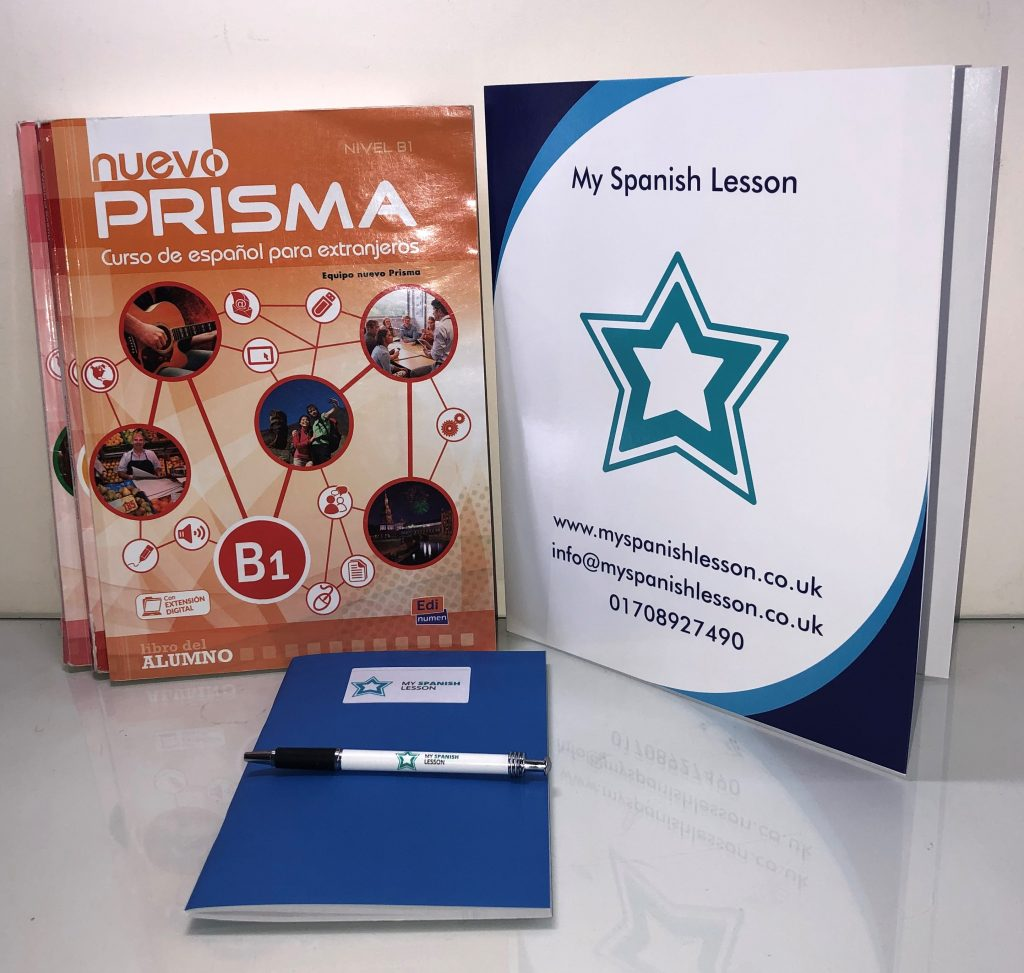 Material included Spanish course online